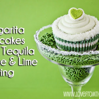 Margarita Cupcakes With Tequila Glaze & Lime Frosting.