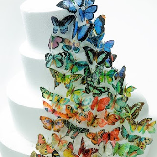 Butterfly Cookies, Butterfly Cakes {Wafer Paper Tutorial}
