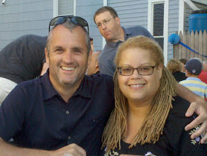 Photo: with Joe Sudbay of Americablog while on vacation in Maine.