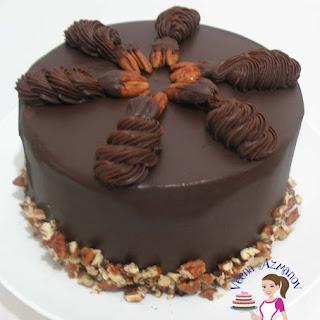 Chocolate Ganache Chocolate Cake .