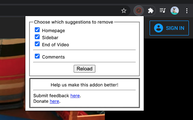 Remove Youtube Suggestions