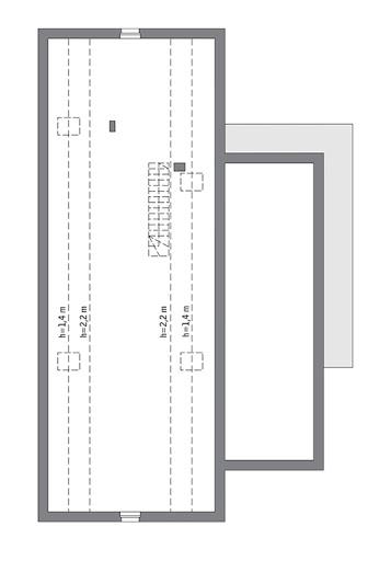 Nieporównywalny (z wentylacją mechaniczną i rekuperacją) - EC379 - Rzut poddasza do indywidualnej adaptacji (92,4 m2 powierzchni użytkowej)