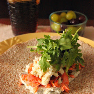 Breakfast Burrito with Smoked Salmon.