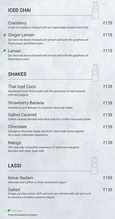 Chai Point menu 2