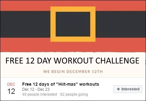 FREE 12 Days of Hiit-mas workouts! Join Us Today!