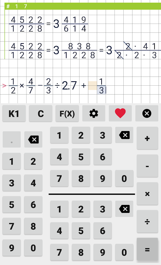 Fraction calculator Free - Android Apps on Google Play