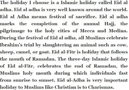 paragraph on eid