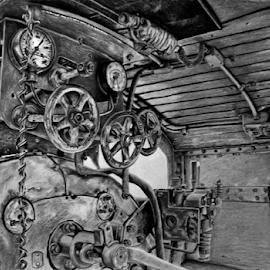 Hilton Train by Paul Murray - Drawing All Drawing ( image, art, drawing, artwork, pencil )