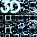 Infinity Parallax Cubes 3D Live Wallpaper icon