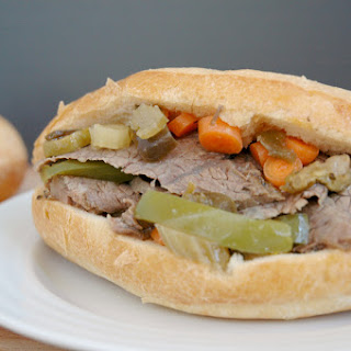 Chicago-style Italian Beef Sandwiches.