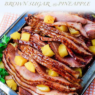 Slow Cooker Brown Sugar Pineapple Ham.