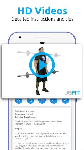 JEFIT Workout Tracker, Weight Lifting, Gym Log App screenshots 8