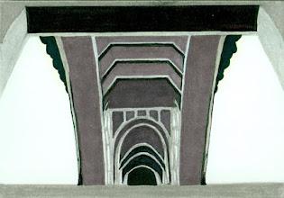 Photo: Under Henley Street Bridge . marker . 10x8