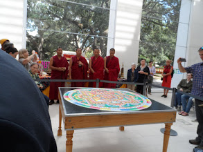 Photo: Back on Sunday for the dismantling of the Mandala.