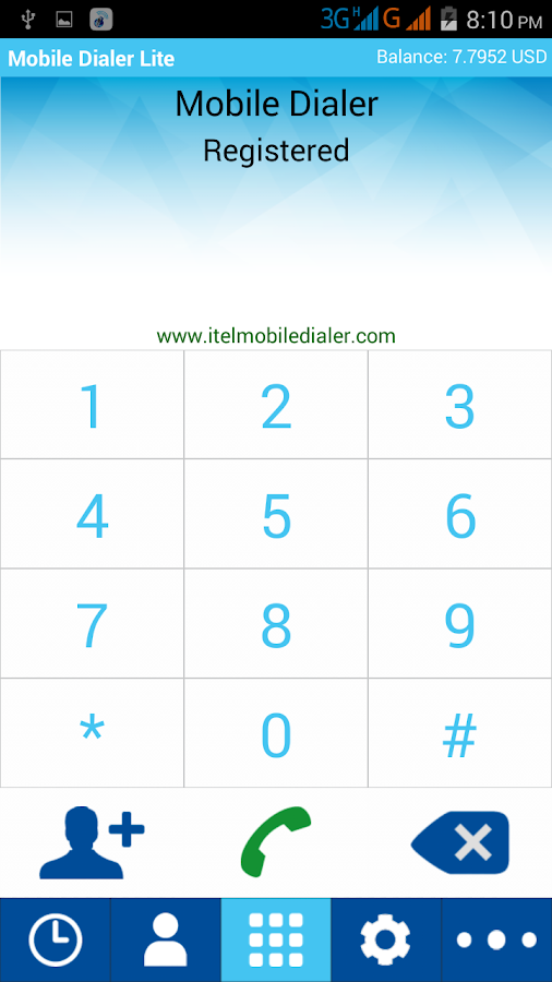 Mobile Dialer Lite- screenshot