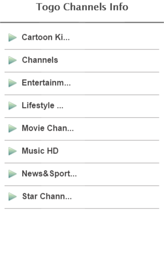 Togo Channels Info