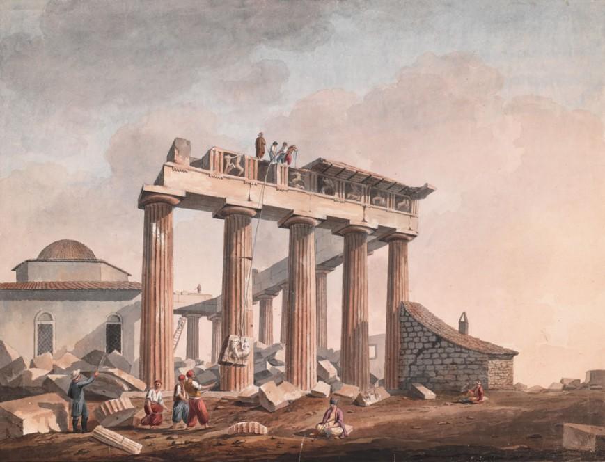 O Λόρδος Έλγιν αφαιρεί τα  Γλυπτά του Παρθενώνα, μετά το 1801 / The Packard Humanities Institute