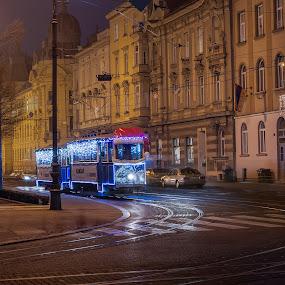 Zagreb photo shot at Advent time by Dražen Škrinjarić - City,  Street & Park  Night ( advent, europe, colorful, street, twilight, christmas, croatia, holidays, zagreb, people, lamps, lights, sky, color, buildings, square )