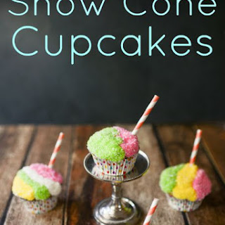 Simple Snow Cone Decorated Cupcakes Tutorial and American Buttercream
