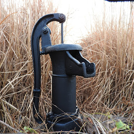 Old Time Well pump by Bill Martin - Artistic Objects Antiques ( macro, hand pump, pump, object, landscape, black )
