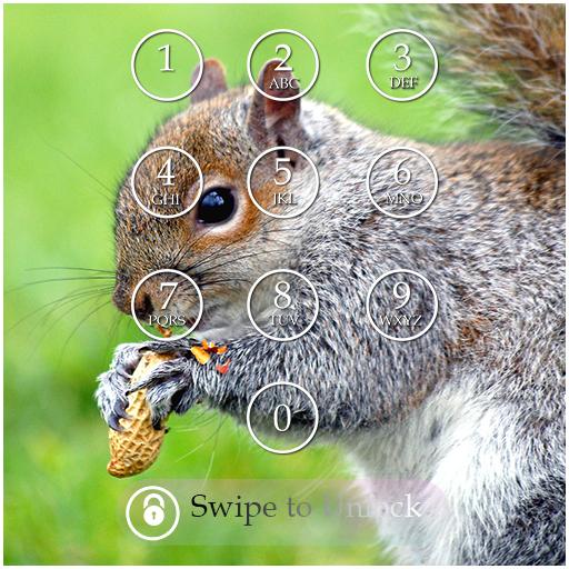 Squirrel Keypad Lock Screen