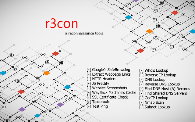 recon - IP, Network & Malware tools