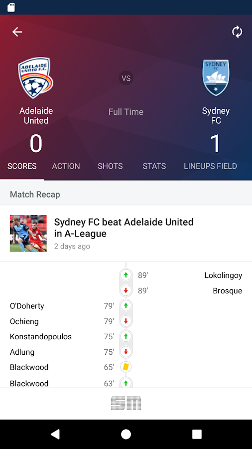 A-League Live 2017/18- screenshot