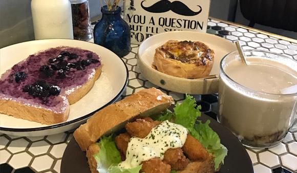 新竹早午餐|新竹超人氣早餐「 山房 Mountain House」:好吃好又拍的山形吐司 文青可愛早午餐 (山房菜單、山房早午餐) null