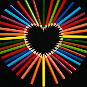 Colour of Love by Agus Supriyanto - Artistic Objects Other Objects ( macro, color, still life, pencils )