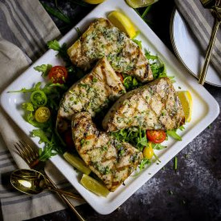 Grilled Swordfish with Herb Butter.