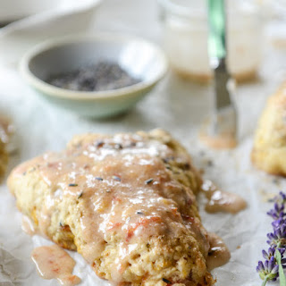 Caramelized Peach and Lavender Scones