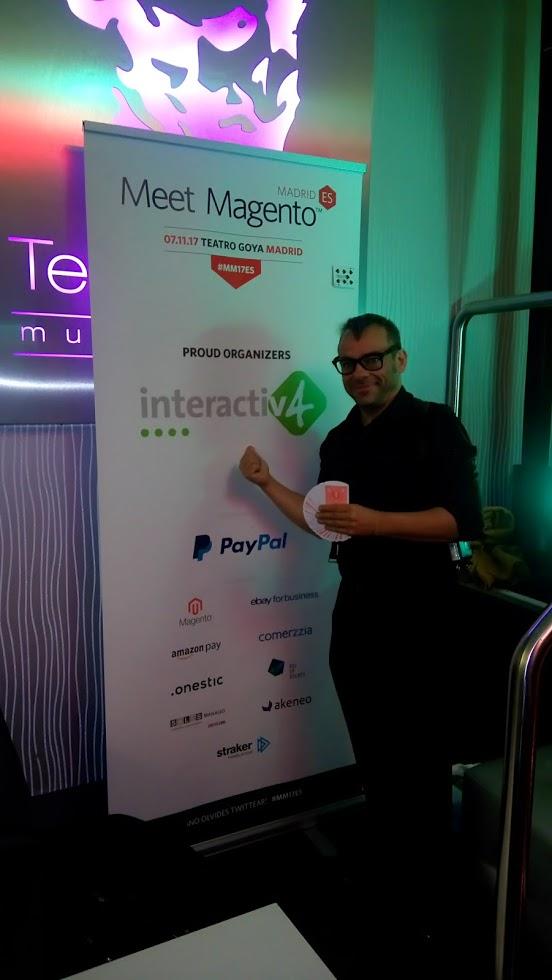 alfonso v en Meet Magento evento Ecommerce 2017