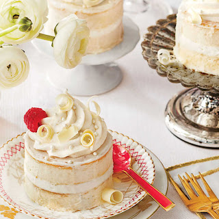 Buttermilk-Lime Mini Cakes with Vanilla-Mascarpone Buttercream.