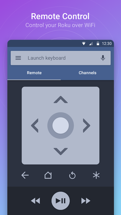 Remote for Roku - RoByte Trial- screenshot