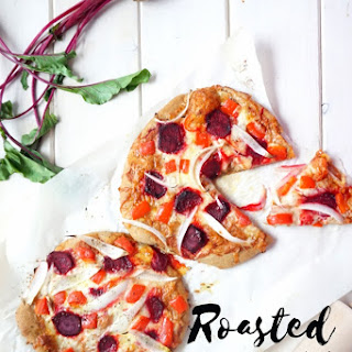 Roasted Vegetable Pizza from Scratch.
