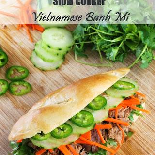 Slow Cooker Vietnamese Banh Mi Sandwich