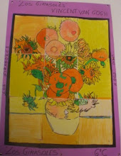 """Photo: Composición Grupal Van Gogh """"Los Girasoles"""" 6ºC"""