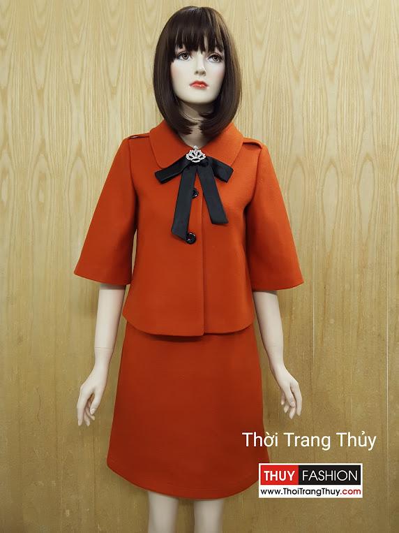 Áo khoác dạ thu đông và váy suông dạ V508 ở Hải Phòng