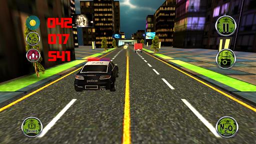 トラフィックを追う3D車警察