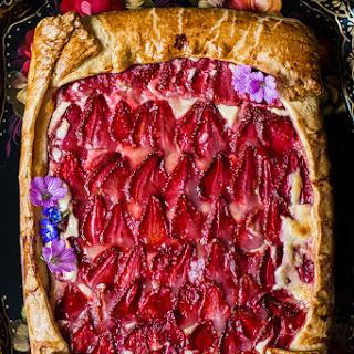 Rustic Strawberry and Cream Cheese Galette Recipe
