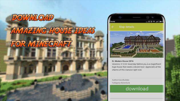 Download Haus Karten Für Minecraft Pe Von Oben Mcpe Inhalt Apk - Minecraft hauser schritt fur schritt