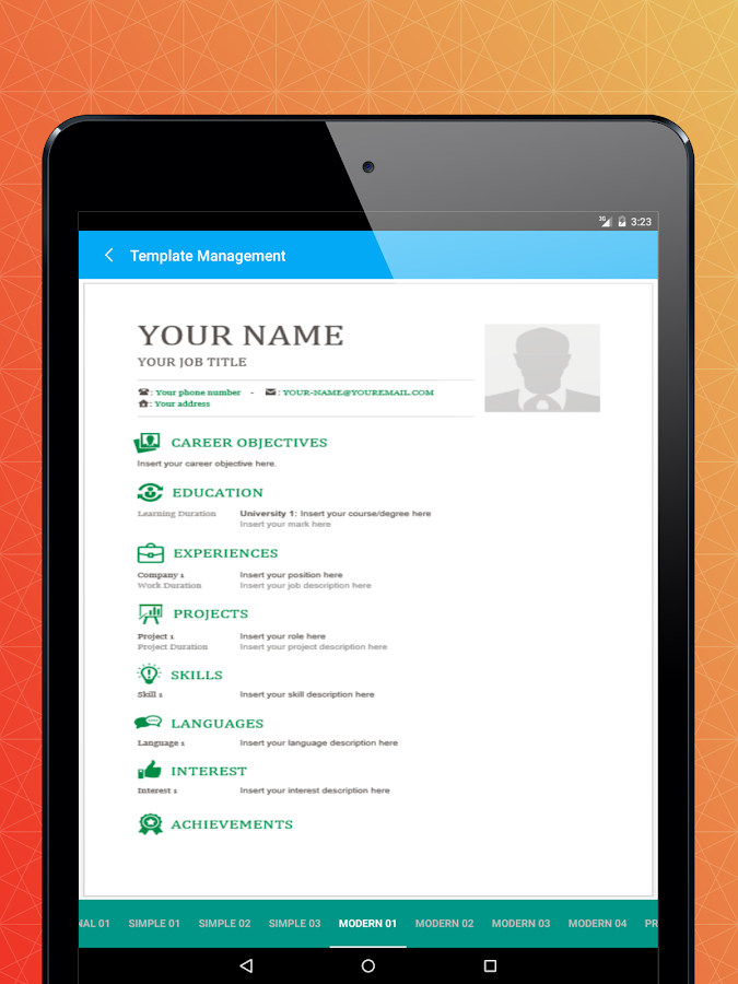 word resume android apps on play