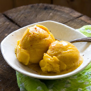 Five Minute Mango Chili Sorbet.