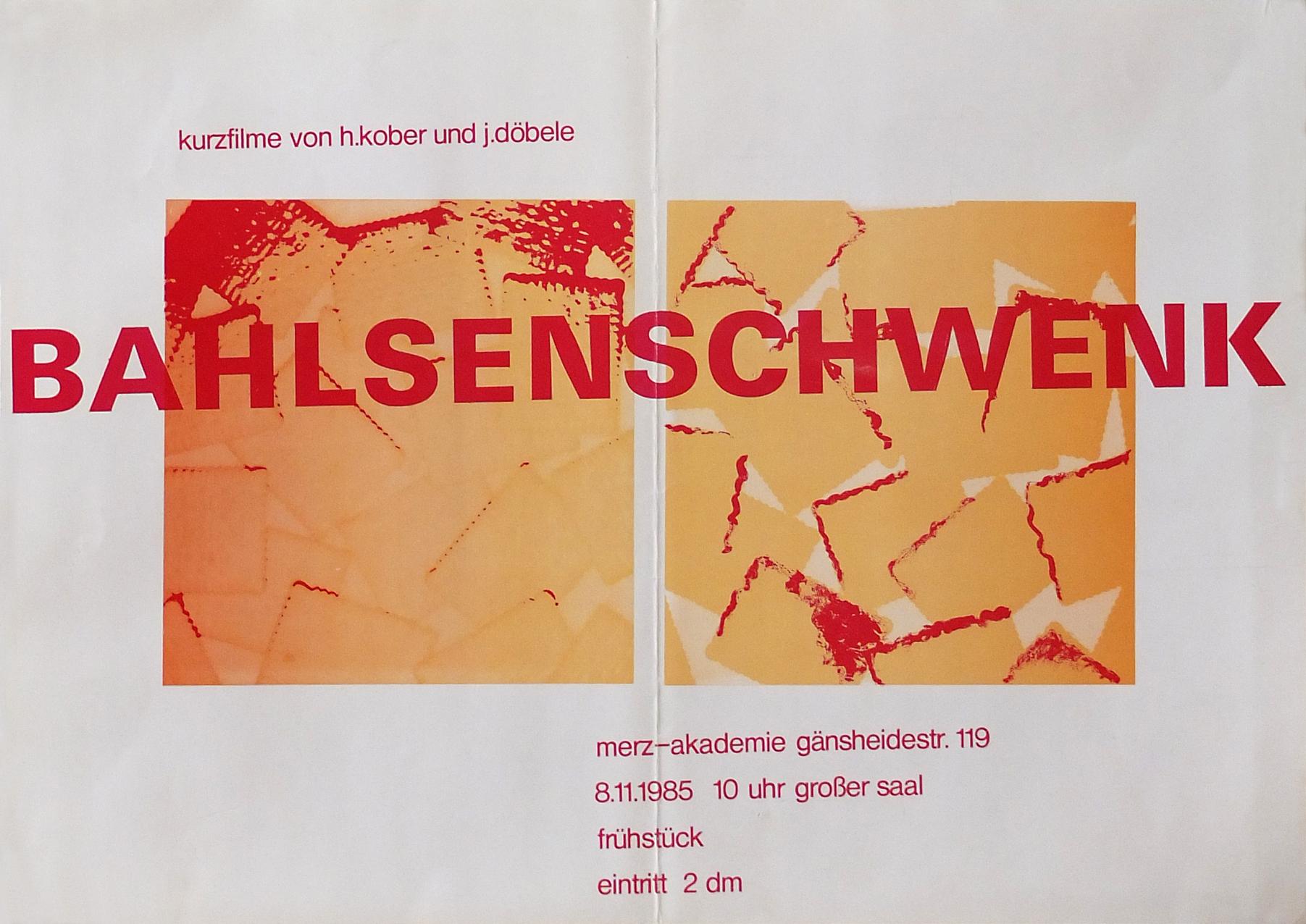 Photo: Persönliche Präsentation auf Einladung von Studenten der Merz-Akademie Stuttgart 30,5 43 cm ©Alessandro Oertwig,1985