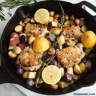 Food Babe's Lemon Rosemary Chicken and Root Vegetables.