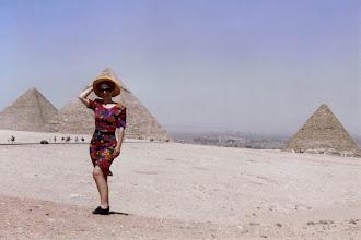 Photo: #008-Les pyramides Khéops, Khéphren et Mykérinos sur le plateau de Guizeh