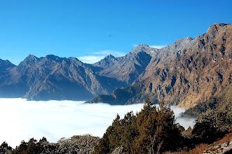 Photo: NEPAL- The hill above Therepati towards Laurebina La showing the trail
