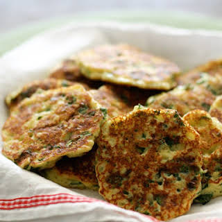 Ricotta and Spinach Fritters.
