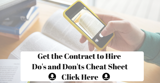 Get the Contract to Hire Cheat Sheet