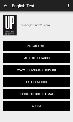 UP Language English Teste